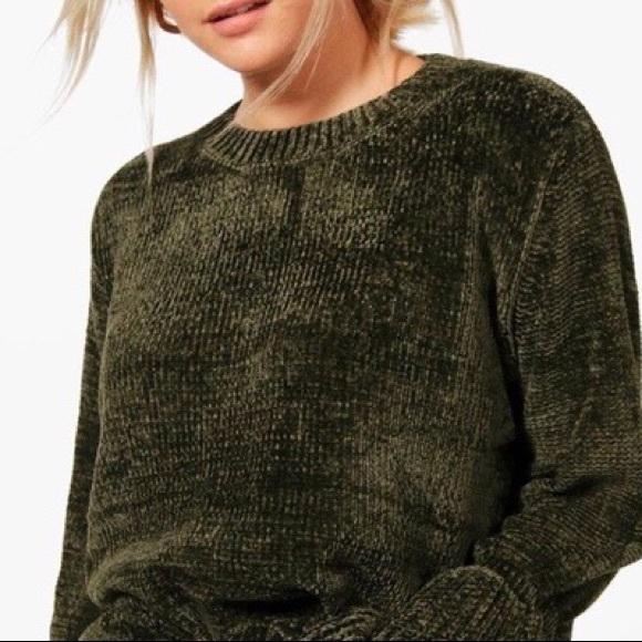 4e76e83c12cfb2 LOFT Sweaters - Loft Green Chenille Sweater